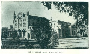 old college hall erected 1889