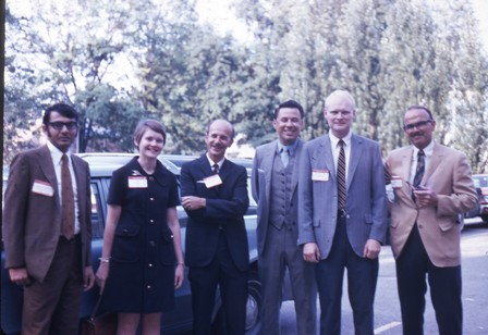 1969 With Dr Wilson (advisor, 3rd left) and his graduate students in Cincinnati University, Ohio