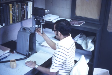 1971 Doing research at Miami University, Oxford, Ohio