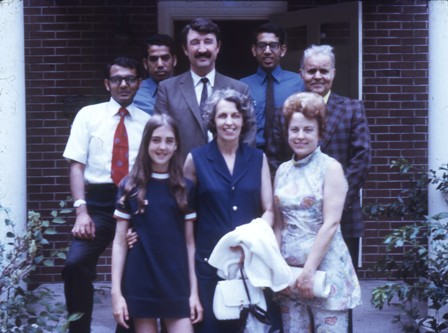 1971 With my host family in Oxford, Ohio