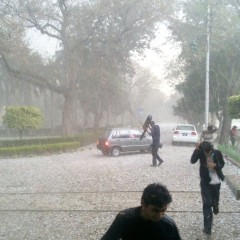 Hailstorm at FCC