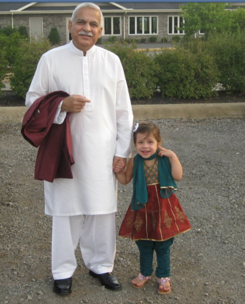 The author with his granddaughter Yasmin.
