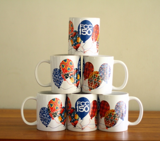 FCC 150 mugs by the Dean of Students Office